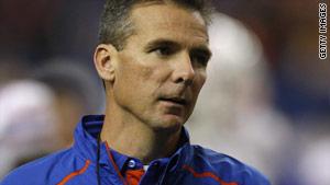 Florida coach Urban Meyer is 56-10 as head coach of the Gators.