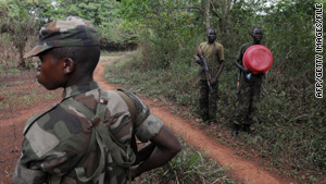 Ugandan soldiers have been working in concert with Congolese forces in fighting Lord's Resistance Army rebels.
