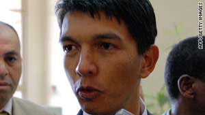 Current president Andry Rajoelina took power with the help of the military in March.