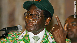 Zimbabwean President Robert Mugabe addresses the Zanu-PF party congress on Friday.