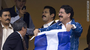Ousted Honduran Presidnet Manuel Zelaya has been holed up in the Brazilian Embassy.