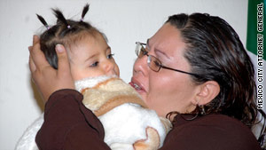 Vanesa Edith Castillo Guzm�n is reunited with her daughter Diana Fernanda Castillo.