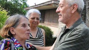 Nine Cuban dissidents have been holed up for 36 days in the home of Vladimiro Roca Antunez, right (pictured in June).