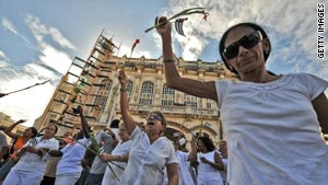 'Ladies in White' march on Thursday in Havana.
