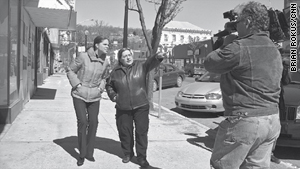 CNN's Soledad O'Brien on the streets of  Shenandoah, Pennsylvania, with Lou Ann Pleva.