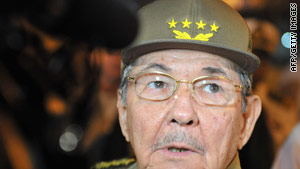 "Cuban President Raul Castro has declared the ""honeymoon"" period with the Obama administration is over."