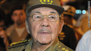 Cuban President Raul Castro says a detained American was illegally distributing satellite equipment.