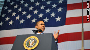 President Obama addressed troops at the Naval Air Station in Jacksonville, Florida on Monday.