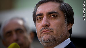 Abdullah Abdullah has ruled out a power-sharing agreement with Hamid Karzai.