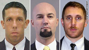 DEA agents, from left, Chad L. Michael, Forrest N. Leamon  and Michael E. Weston were killed Monday.