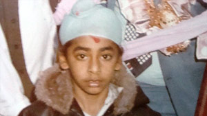 A young Harmeet Shah Singh pictured at the wedding of one of his older sisters.