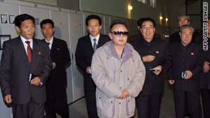 Image released by official Korean Central News Agency Oct. 30 shows Kim Jong Il inspecting a power station.