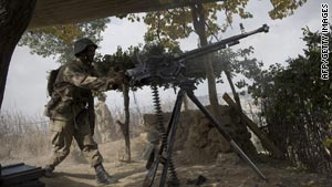 Pakistani forces launched an offensive against the Taliban on October 17.