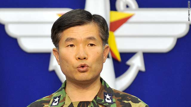 South Korean Rear Adm. Lee Ki Sik speaks in Seoul on Tuesday about the clash of North and South Korean navies.