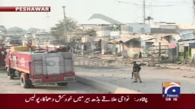 A suicide car bomber kills six in Peshawar, Pakistan.