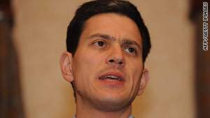 David Miliband was addressing NATO's annual session in Edinburgh, Scotland.