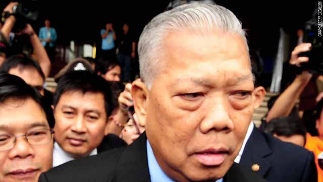 Ousted Thai Prime Minister Samak Sundaravej stepped down in August 2008.