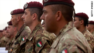 Italy has nearly 3,000 troops currently deployed in Afghanistan.