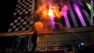 At least 20 people were killed Friday night in a fire at an Indonesian discotheque.
