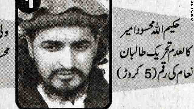 Tehrik-i-Taliban Pakistan (TTP) chief Hakeemullah Mehsud's mugshot is seen in a Pakistani newspaper on November 3.