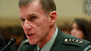 Gen. Stanley McChrystal, shown at a Capitol Hill hearing Thursday, says Afghanistan forces still need U.S. help.