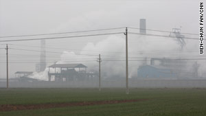 A steel mill in Linfen city, where Chinese officials are trying to tackle the pollution problem.