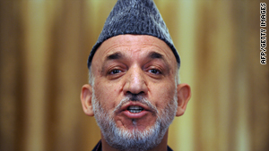 Hamid Karzai was returned to power in a disputed election in November.