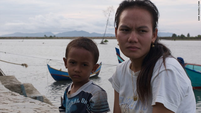 Fitrie Ani and her tsunami son Zahri.