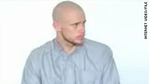 Pfc. Bowe Bergdahl appears in a video in July. The Taliban have released another video purporting to show Bergdahl.
