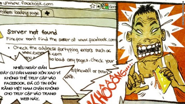 Blogger Nguyen Thanh Phong satirizes what he believes are government attempts to block Facebook.