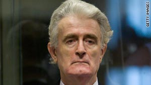 Karadzic's trial is expected to start Monday, with or without him, a spokeswoman said.