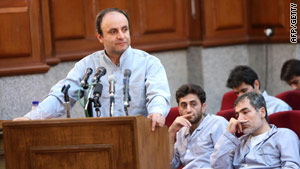 Iranian British embassy employee Hossein Rassam at a revolutionary court in Tehran on August 8, 2009.