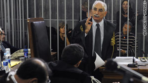 Italian prosecutor Armando Spataro speaks Wednesday in the court in Milan at the end of the trial.