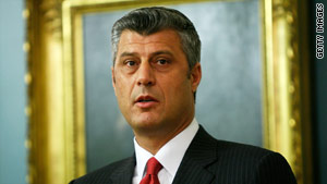 Former political leader of the Kosovo Liberation Army, Hashim Thaci, became prime minister in 2007.