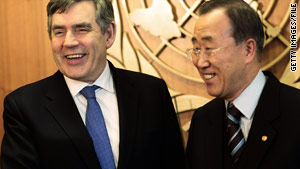 Prime Minister Gordon Brown and U.N. Secretary General Ban Ki-moon announced a conference on Afghanistan.