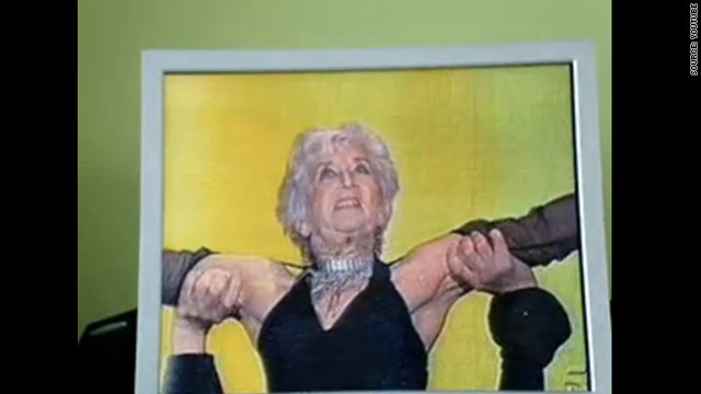 "British grandmother Paddy Jones executes her final lift on the Spanish talent show, ""Tu Si Que Vales."""