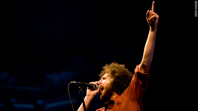 Rock group Rage Against The Machine's frontman Zach De La Rocha.