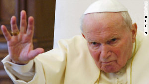 Pope John Paul II died on April 2, 2005, at age 84.