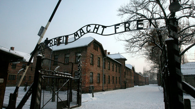 Police have arrested five men accused of stealing the infamous sign from Auschwitz last Friday.