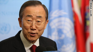 Ban Ki-moon and the U.N. are urging nations to formally sign a climate change accord to make a commitment to change.