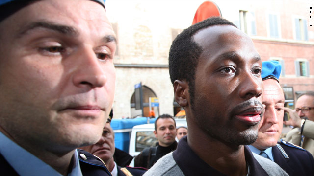 Rudy Guede has had his sentence reduced to 16 years for the murder of British student Meredith Kercher.