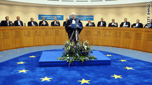 The European Court of Human Rights ruled that Bosnia's constitution violates European human rights law.