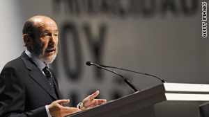 Spainish Interior Minister Alfredo Perez Rubalcaba warned that ETA could strike soon.