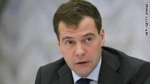"President Dmitry Medvedev said Russians ""take a punch and keep coming."""