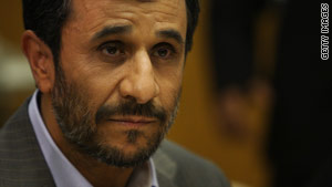 Iranian President Mahmoud Ahmadinejad at a U.N. meeting in New York on September 25.