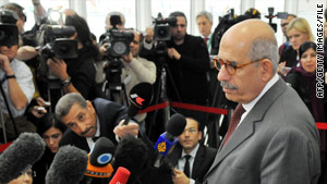 ElBaradei (pictured in October) is stepping down as head of the International Atomic Energy Agency.
