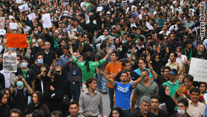 Iran has blamed the United States for stirring up protests stemming from the disputed Iranian presidential election.