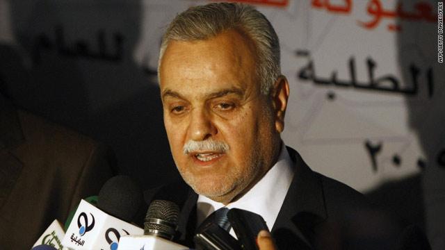 Tariq al-Hashimi, Iraq's Sunni vice president, has threatened to veto the country's new election law.