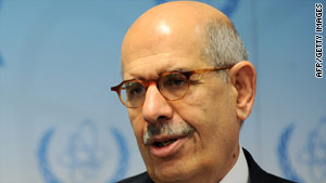 Mohamed ElBaradei has criticized Iran's over its failure to provide information about its nuclear program.