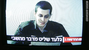 Israeli soldier Gilad Shalit is seen in a video released last month by Hamas.